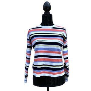 Karen Millen Multi Color Striped Crewneck Sweater